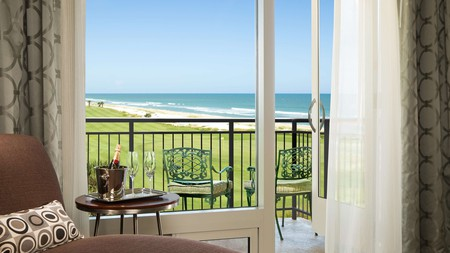 Gaze out to the ocean from your room at the Hammock Beach Golf Resort & Spa in Florida