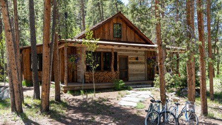 Go off-grid in Colorado with a stay in a woodland cabin like this one in Taylor Canyon