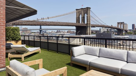 Relax with views of the Brooklyn Bridge on your next stay around the Port of New York and New Jersey