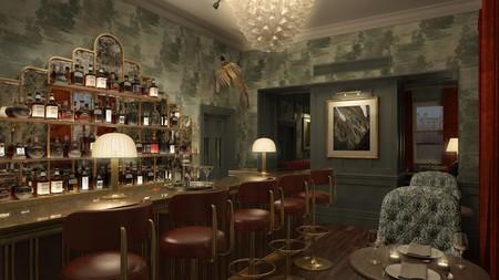 Enjoy a drink at the classy bar at Hotel Indigo in Bath