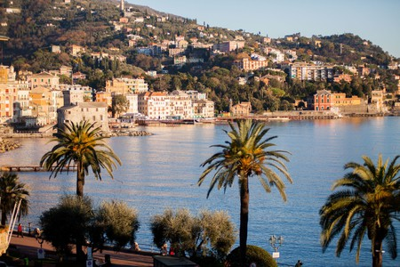 Enjoy a picture-perfect view of the bay from Hotel Riviera, Rapallo