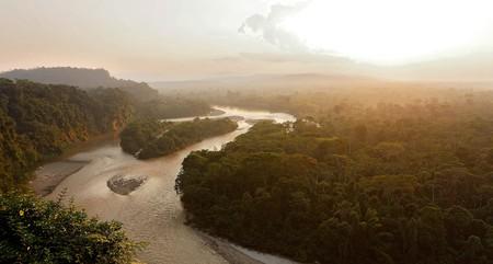 The River Anzu stretches through the stunning Amazon rainforest in Ecuador