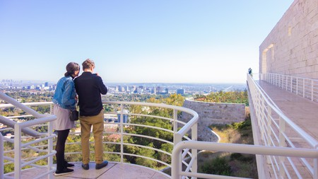 Take in beautiful panoramic views from the Getty Center
