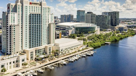 Enjoy picture-perfect waterfront views at the Tampa Marriott Water Street