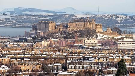 Enjoy views like these over Marchmont towards Edinburgh Castle in Scotland
