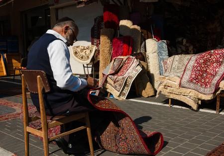Carpet vendor in Tel Aviv, Israel