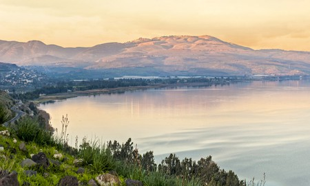 Sunset of the Sea of Galilee