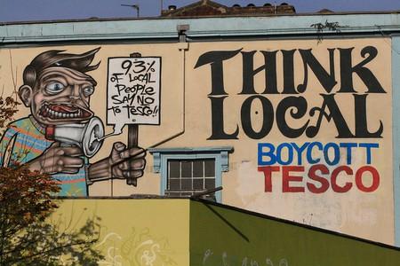 Boycott Tesco graffiti | © KylaBord/Flickr