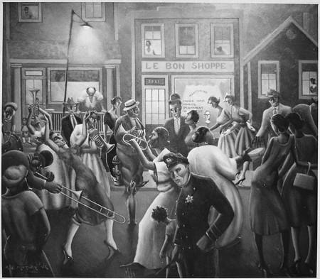 Harlem Renaissance Abstract Jazz Art