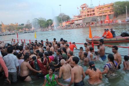 Devotees Taking The Holy Dip At Simhasta Kumbh, Ujjain