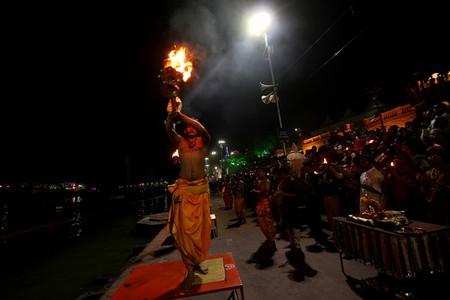 Sandhya Aarti Being Held At The Simhasta Parv, Ujjain