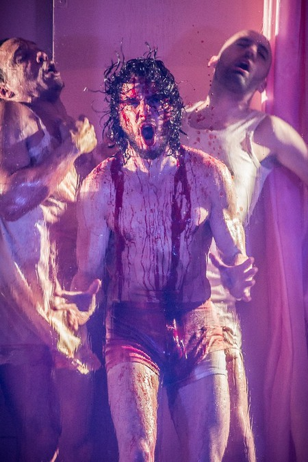(L-R) Craig Stein, Kit Harington and Tom Edden in Doctor Faustus