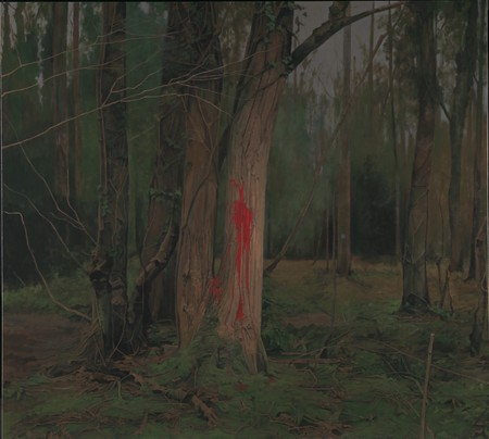 George Shaw, Every Brush Stroke is Torn Out of My Body, 2015-2016 (Enamel on canvas 178.5 x 198 cm) | Courtesy of the Artist and Wilkinson Gallery, London