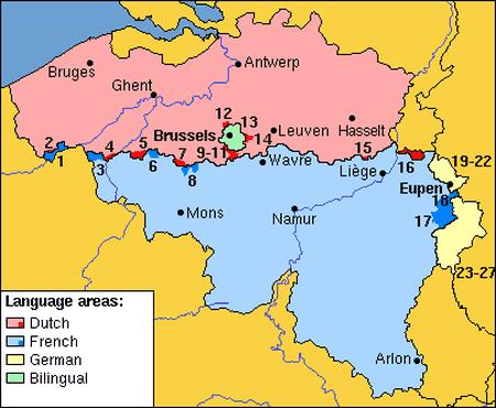 The language border   © Gpvos/Wikimedia Commons