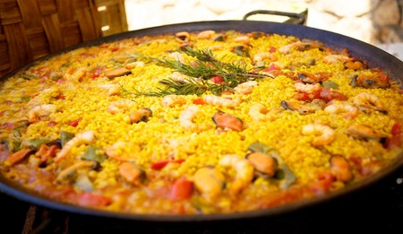 A traditional Spanish paella