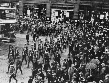 Members of the Ulster Volunteer Force in Belfast, 1914
