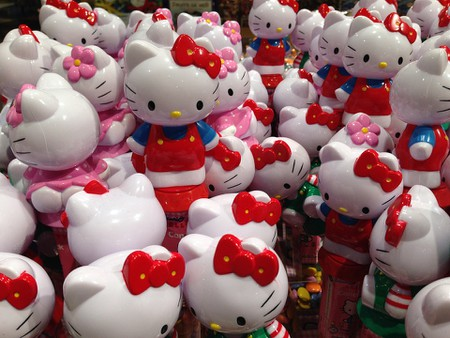 An army of Hello Kitty merchandise