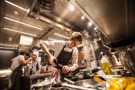 Davy de Pourcq in his kitchen at Volta | Courtesy of Volta