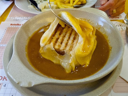 Francesinha includes a sauce made from beer