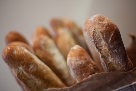 Ends of baguettes, begging to be eaten │
