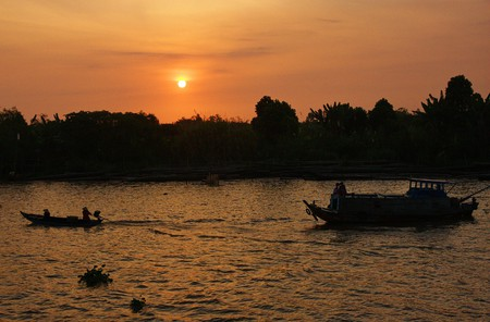 Sunset over the Mekong Delta