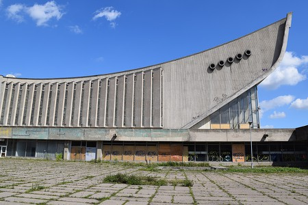 The dilapidated Palace of Sports and Concerts in Vilnius