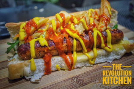 Hot dogs from the Revolution Kitchen