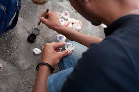 Painting shells, Morocco