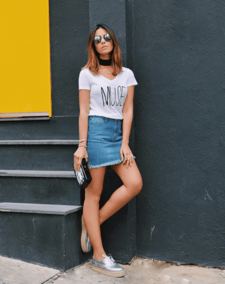 Transform a simple white tee with lettering