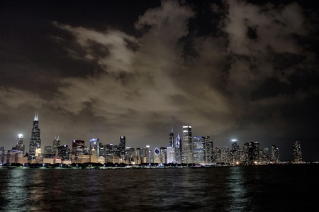 Nighttime skyline