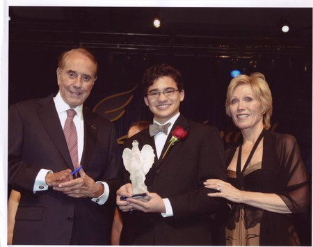 """Daniel Kent and Net Literacy being recognized with the """"Mother Teresa Caring Award"""" 