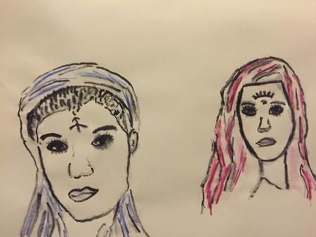 c93389ea2 Facial tattoos on Bedouin women. (instagram/saharesfandiari)