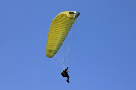 Paragliding is popular in the mountains