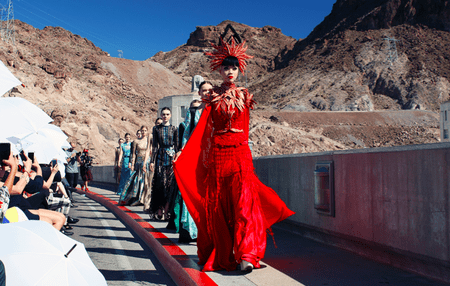Couture on the Hoover Dam by Jessica Minh Anh