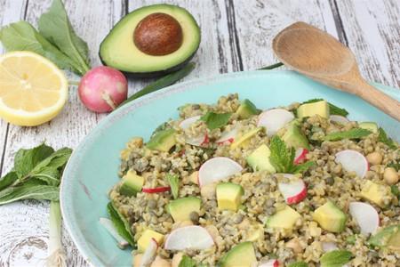 Freekeh with avocado