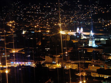 Night View from Parque Itchimiba, Quito