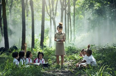A teacher in a remote area