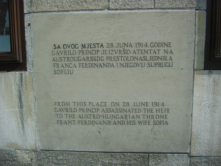 Gavrilo princip memorial plaque | © Michael Büker