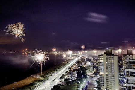 Firework spectacle in Punta del Este