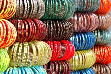 Bangles are popular wedding accessories for the Indian brides