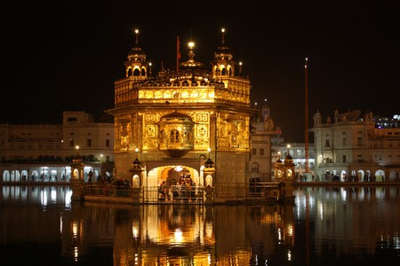 The Golden Temple at Amritsar is Sikhism's holiest site