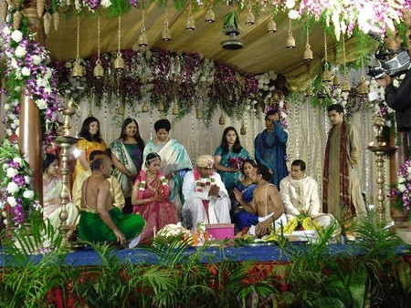 A South Indian wedding ceremony