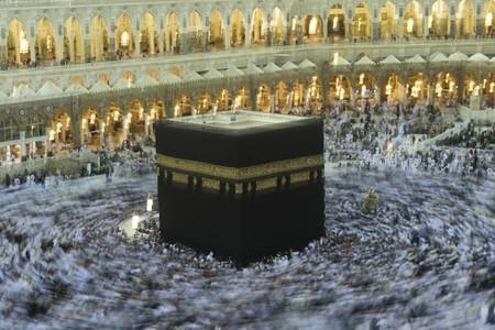 Muslims doing Hajj in Mecca