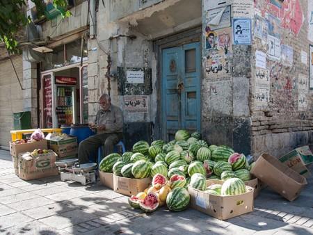 Watermelon season in Shiraz.