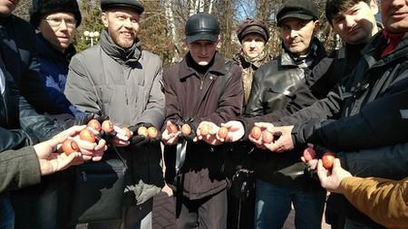 'Free Maltsev' Eggs | Courtesy of Elena Blinova