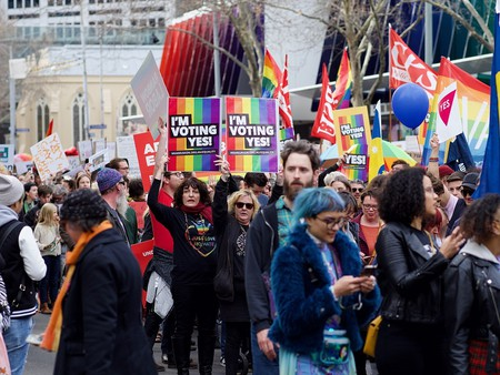 Marriage Equality rally in Melbourne