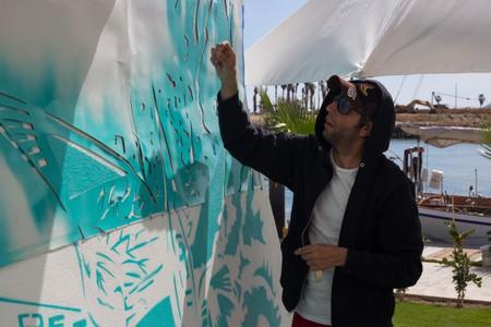 Artist Rodrigo Sastre at El Ganzo in San José del Cabo