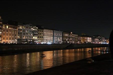 Lungarno of Pisa during Luminara