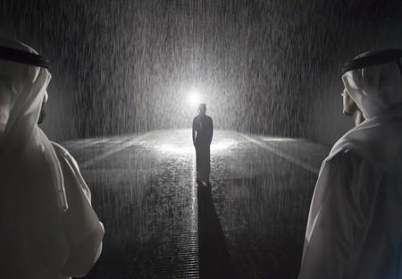 'Rain Room' exhibited at Sharjah Art Foundation, 2018