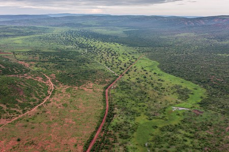 The southern entrance of Akagera National Park | Courtesy of Gaël R. Vande weghe and Philippe Nyirimihigo